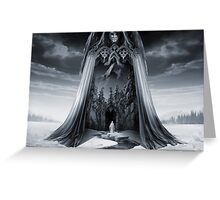 Angels and Demons or Angel of Light Greeting Card