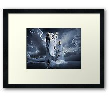 Ice Age Premonition or Infinite Iceberg Synthesizer Framed Print
