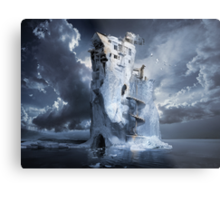 Ice Age Premonition or Infinite Iceberg Synthesizer Metal Print