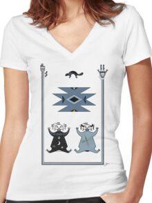 Hózhó Women's Fitted V-Neck T-Shirt