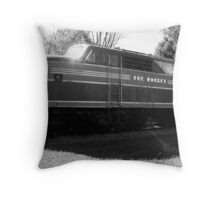 The Rock Island Rocket Throw Pillow