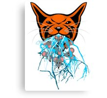 Cat Barf Mouse Heads Canvas Print