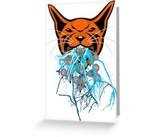 Cat Barf Mouse Heads Greeting Card