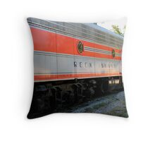 The Rock Island Rocket V Throw Pillow