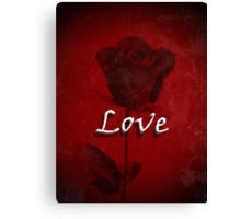 Statement of Love Red Rose Canvas Print