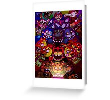 Five Nights at Freddys Greeting Card