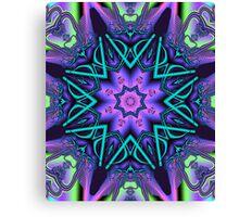 Decorative star in an artistic kaleidoscope Canvas Print