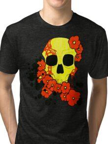 SKULL FLOWERS Tri-blend T-Shirt