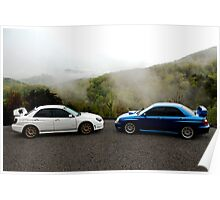 Subarus In The Smoky Mountains Poster