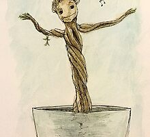 Baby Groot Dancing ~ Guardians of the Galaxy by booklils