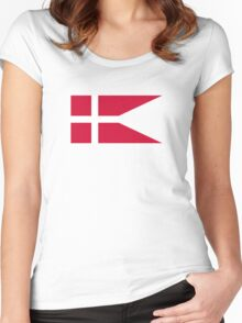 Fin Flash of the Royal Danish Air Force  Women's Fitted Scoop T-Shirt