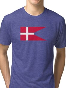 Fin Flash of the Royal Danish Air Force  Tri-blend T-Shirt