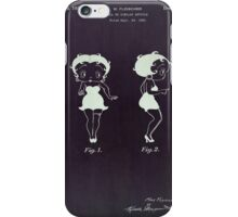 Betty Boop vintage patent from 1932. iPhone Case/Skin