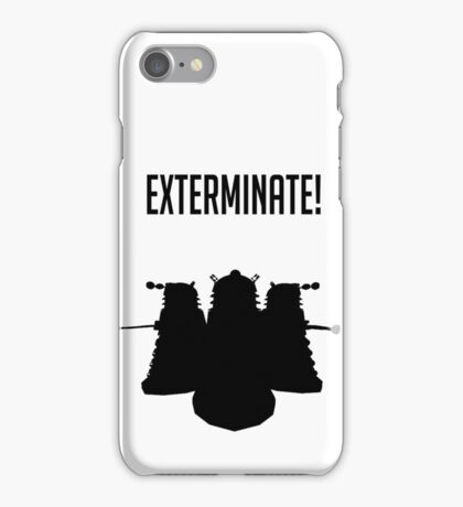 Exterminate! Dalek Silhouette  iPhone Case/Skin