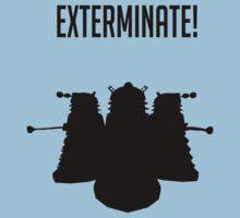Exterminate! Dalek Silhouette  Kids Tee