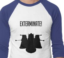 Exterminate! Dalek Silhouette  Men's Baseball ¾ T-Shirt