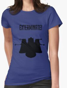 Exterminate! Dalek Silhouette  Womens Fitted T-Shirt