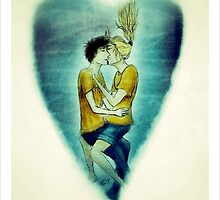 Percabeth ~ Percy Jackson and Annabeth Kissing Underwater by booklils