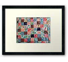 Patch work home design Framed Print