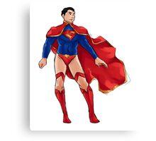 Superman dressed as Supergirl Canvas Print
