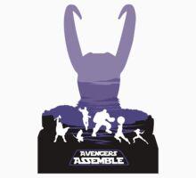 Avengers Assemble Poster Design T-Shirt