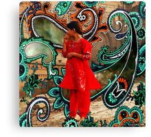 The Fountain Of Cosmic Pleasing Paisley lOve 238 Canvas Print