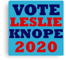Vote Leslie Knope 2020 Campaign Canvas Print