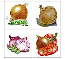 Happy Onions Photographic Print