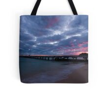 Watching The Clouds Catch Fire Tote Bag