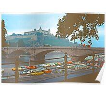 Würzburg, Castle and Bridge Poster