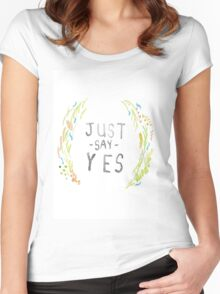 Just Say Yes - Zoella Women's Fitted Scoop T-Shirt