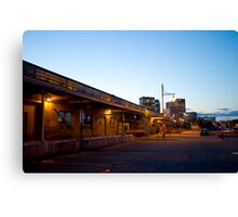 Behind the Railway Station Canvas Print