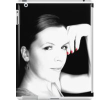 Black & White with touch of Red iPad Case/Skin