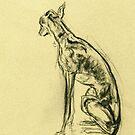 Whippet Sketch by Elle J Wilson