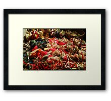 Ribbons and Hearts - Aix-en-Provence Market Framed Print