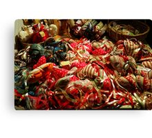 Ribbons and Hearts - Aix-en-Provence Market Canvas Print