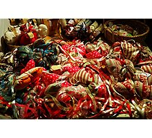 Ribbons and Hearts - Aix-en-Provence Market Photographic Print