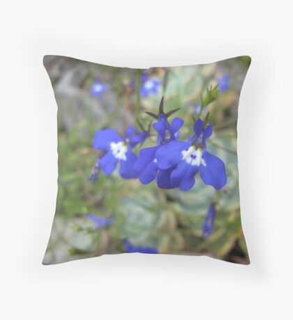 Blue Bell Throw Pillow