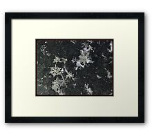 Snow Flakes by Design. Framed Print