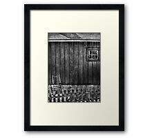 Old Rocking Chair Framed Print