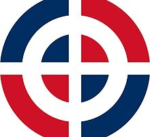 Roundel of the Dominican Air Force by abbeyz71