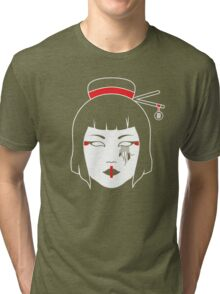Geisha Chainsaw Tri-blend T-Shirt