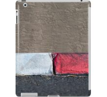 No Parking Red and White Curb iPad Case/Skin
