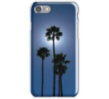 Clear Blue Sky w/ Sun behind Palms iPhone Case/Skin