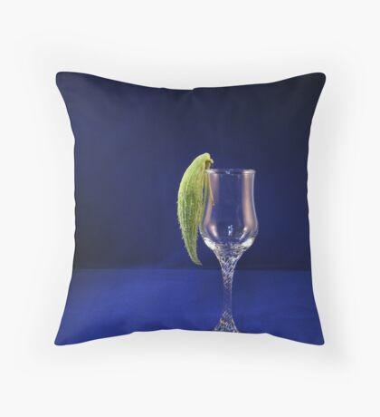 Parrotbud on glass... Throw Pillow