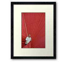 Hot air: Man in red Framed Print