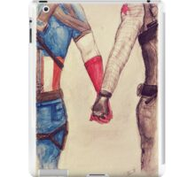 Stucky ~ Captain America and Bucky Barnes Holding Hands  iPad Case/Skin