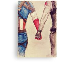 Stucky ~ Captain America and Bucky Barnes Holding Hands  Canvas Print