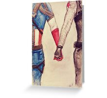 Stucky ~ Captain America and Bucky Barnes Holding Hands  Greeting Card