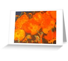 Wild Poppies (oil on canvas 23 X 30 cm) Greeting Card